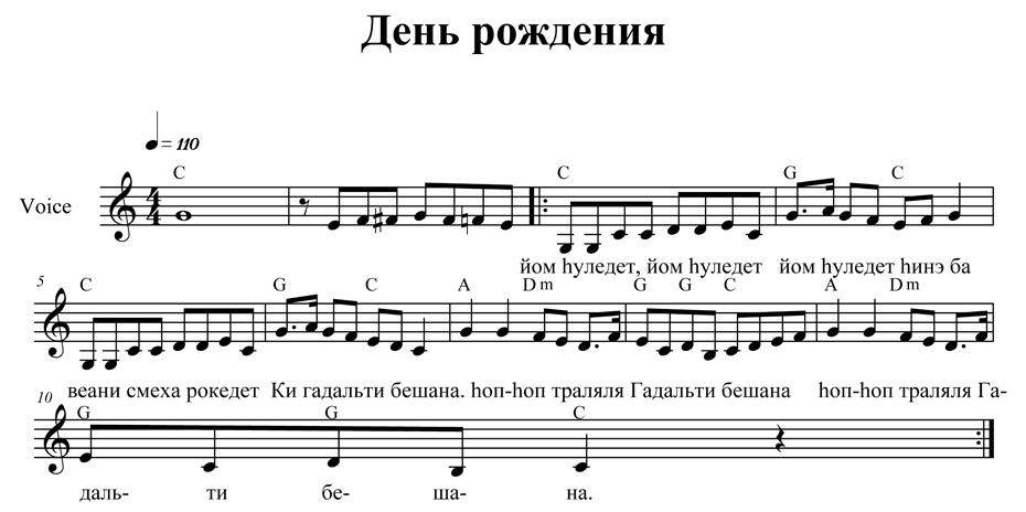Музыка из открытки ноты 42